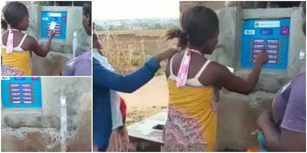 Nigerians react to video of water dispensing ATM machine.