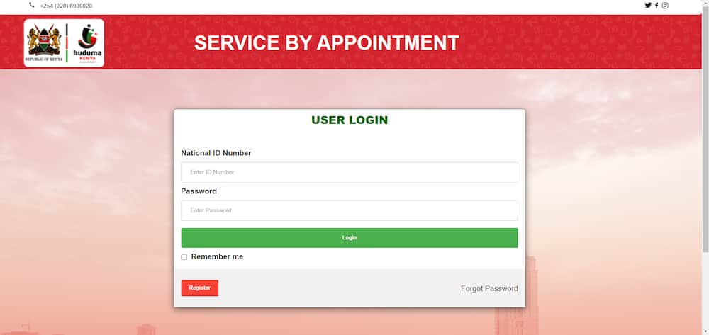 How to book an appointment at Huduma center