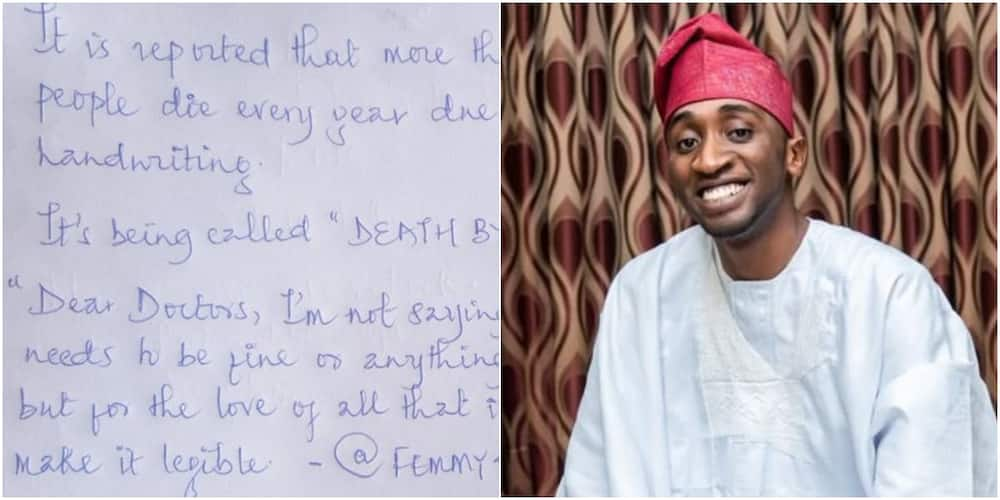 Nigerian doctor challenges colleague to handwriting competition