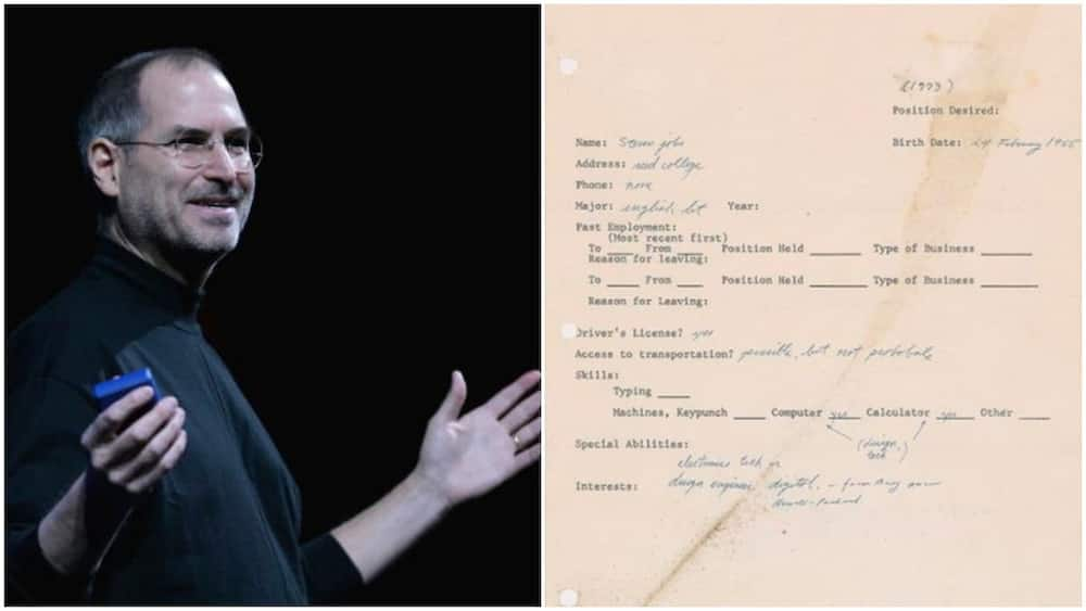 Steve Jobs' 1973 handwritten application letter when he was looking for work sells for over N83m