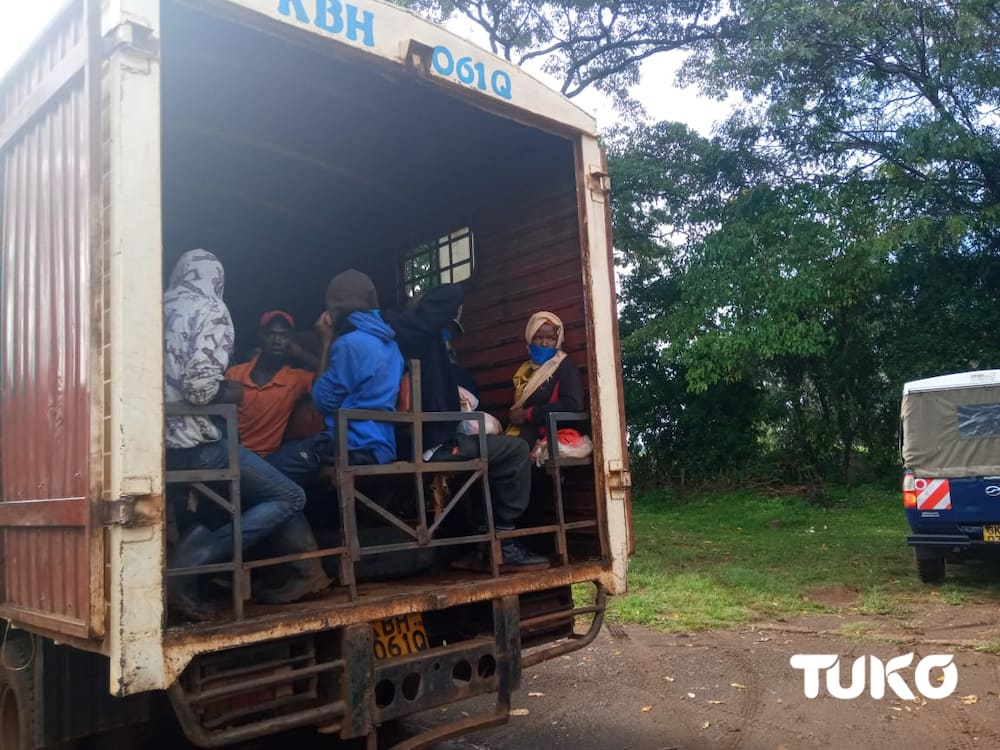Nine arrested in Murang'a after sneaking out of Nairobi using unofficial routes