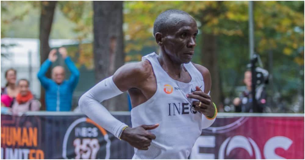 Eliud Kipchoge competing during the INEOS 1:59 Challenge. Photo: Getty Images.