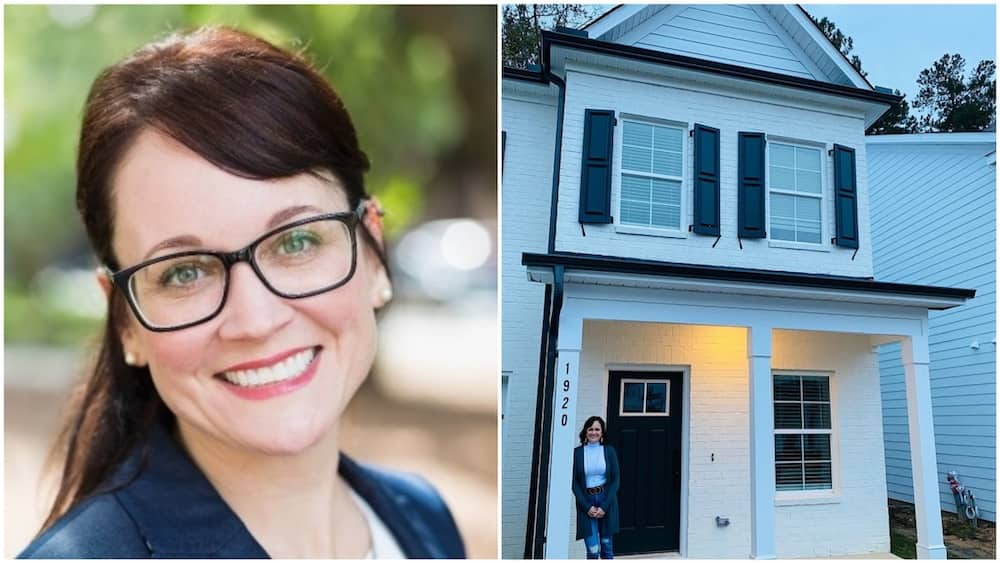 Woman buys her house after stuggling for 10 years as single mum