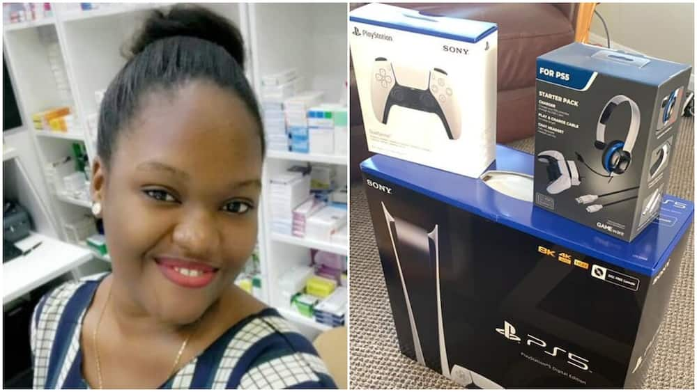 Nigerian lady buys complete PS5 box for man, says she's about to spoil someone's son