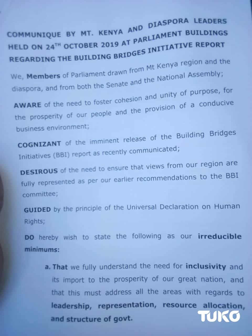 Mutahi Ngunyi says Mt. Kenya MPs are exchanging ignorance on BBI report