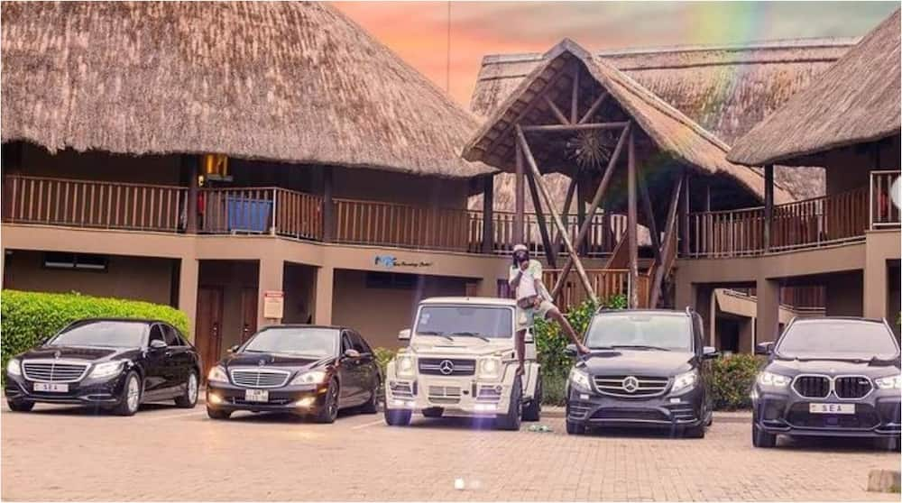 Emmanuel Adebayor's car collection. Photo: e_adebayor.