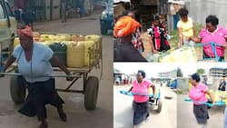 Nairobi Woman Pictured Pulling Mkokoteni Gets Help from Well-Wishers