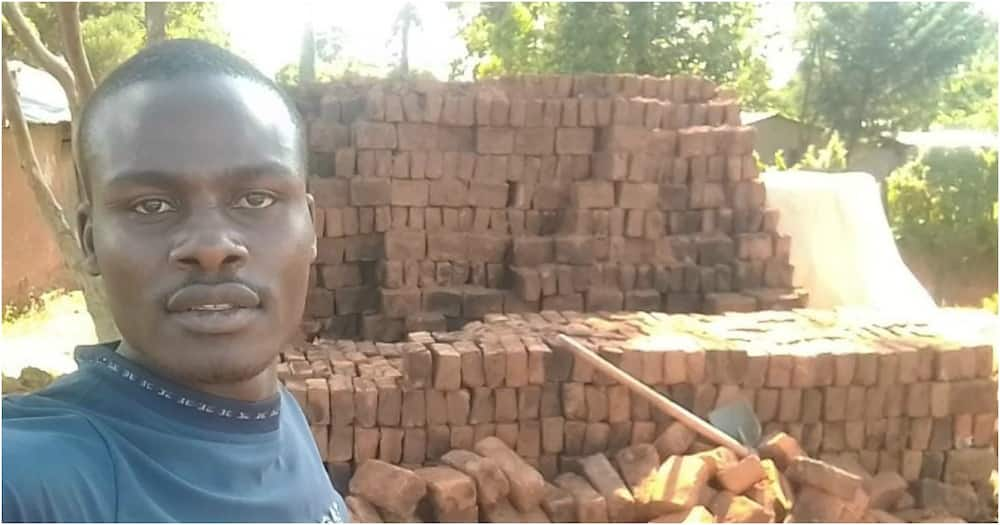 Nandi: Man selling bricks to raise fees afraid he'll drop out university as market competition increases