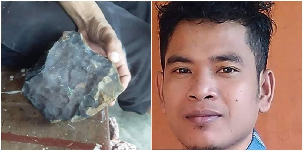 Indonesian man becomes an instant millionaire as meteorite worth £1.4m crashes through his roof