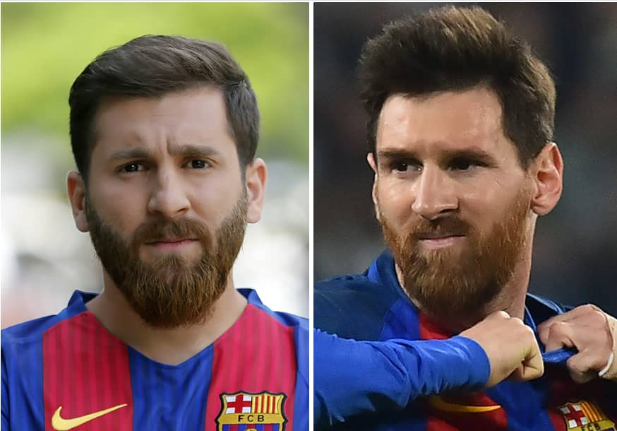 11 photos of Iranian man which mystical resemblance to Barcelona legend Lionel Messi