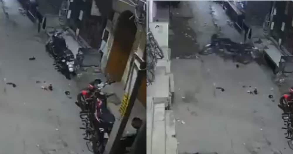 Video of boda boda moving from parking spot on its own puzzles netizens