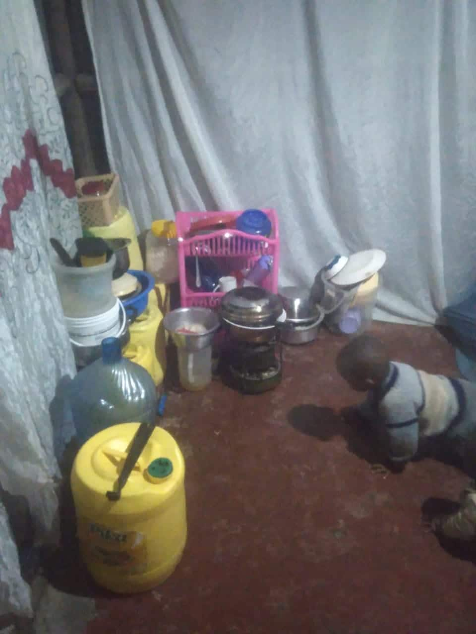 Kind Kenyans donate furniture to Kayole mum who was sleeping on the floor