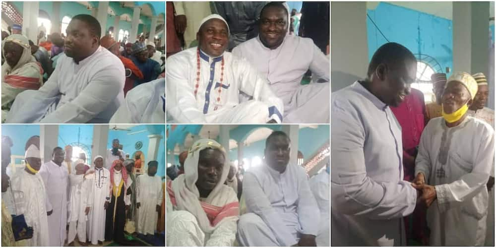 Reverend Father Peter Ayanbadejo with Muslim faithful