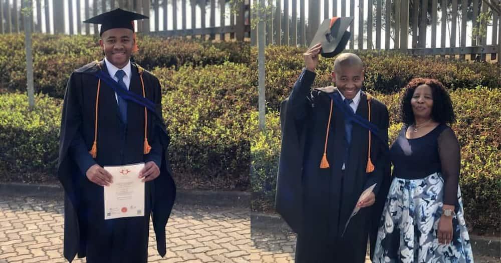 The university graduate. Photo credit: Mahlatse Mashile.