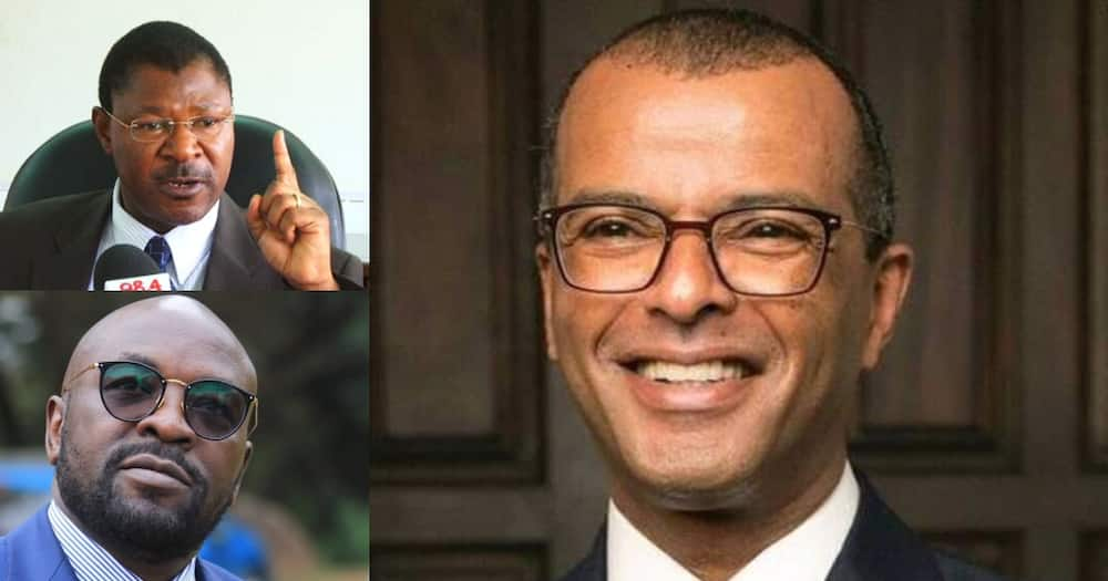 List of top Kenyan lawyers. Photo: Cliff Ombeta, Moses Wetang'ula and Philip Mugor.