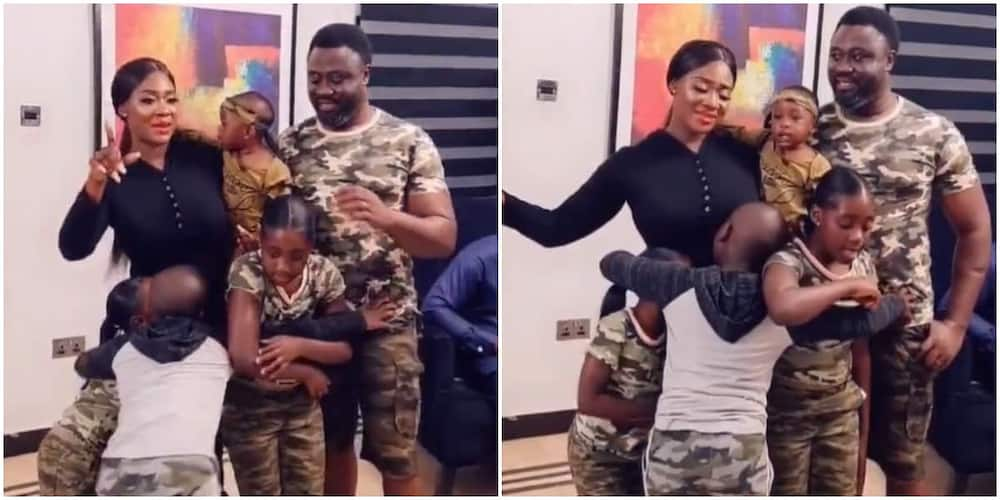 Mercy Johnson is a proud mum of four.