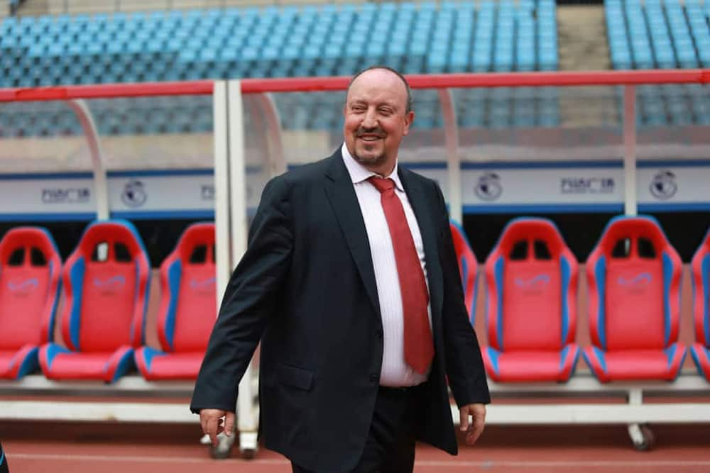Rafa Benitez when he joined Chinese side, Dalian Yifang as manager in 2019. Photo: Visual China Group.