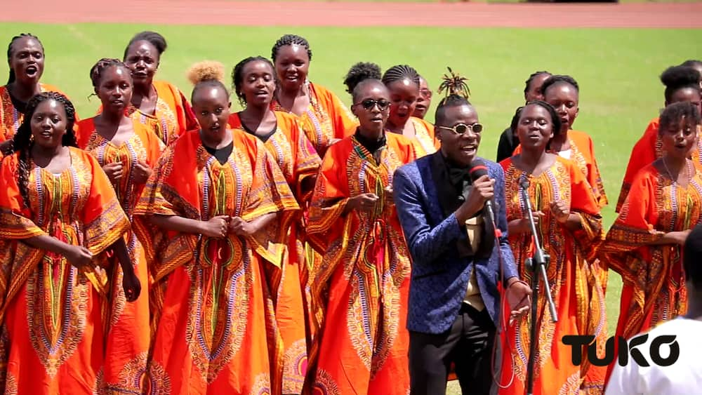 Gospel singer Guardian Angel wowed the crowd with an amazing rendition