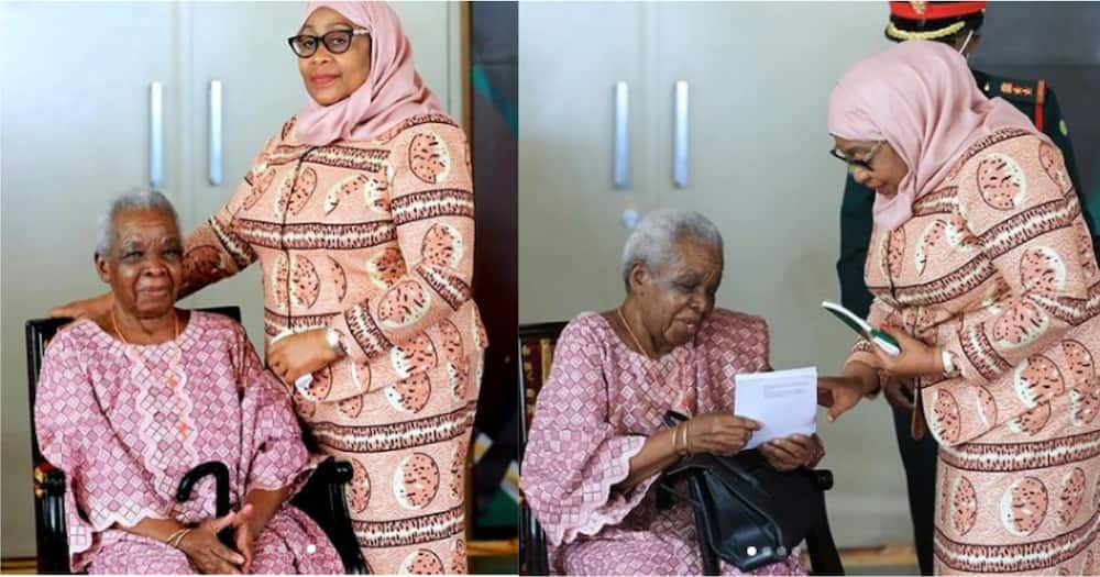 Tanzania President Samia Suluhu Visits Julius Nyerere's Widow Maria
