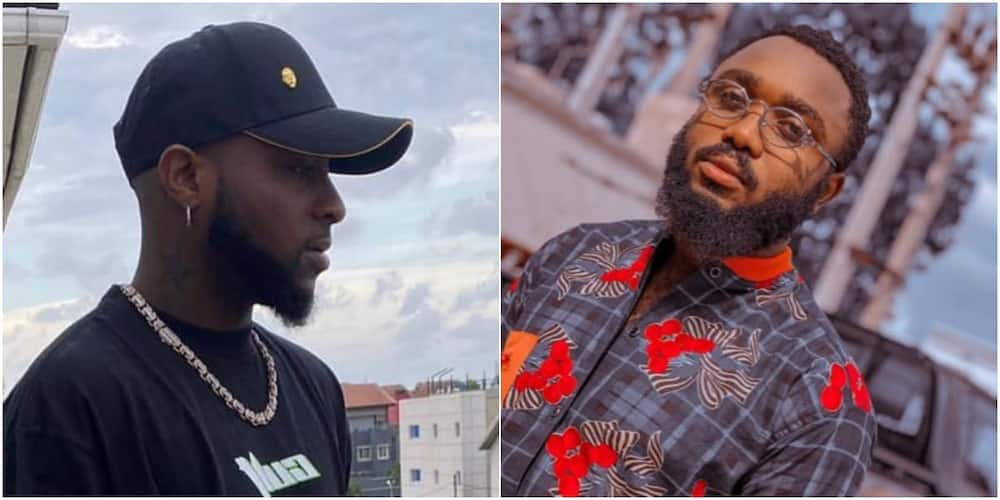Davido's fan excited after singer blessed him with N1m for mixing his old hit songs
