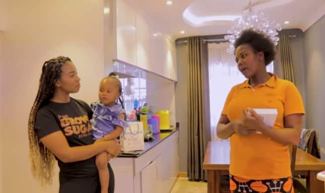 Bahati's cheeky daughter Heaven hilariously refers to him as babe