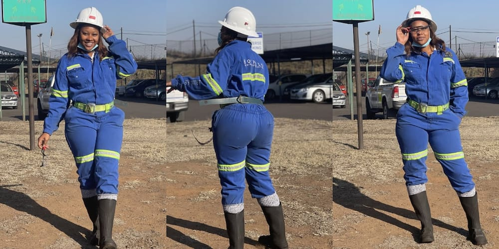 Women in Mining, blue overalls, inspiring story