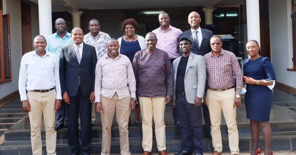 William Ruto Quells Tension in Hustler Nation after Hosting Moses Kuria, Other Allies