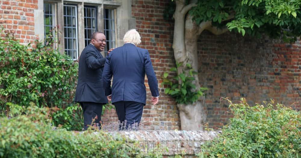President Uhuru Kenyatta arrived in the United Kingdom on Tuesday, July 27.