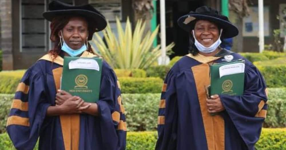 Mother and daughter graduate with PhDs from Moi University
