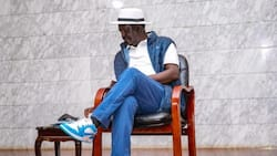 Raila Odinga Dazzles in High-Top University Blue Jordan Sneakers During Meeting with Youths