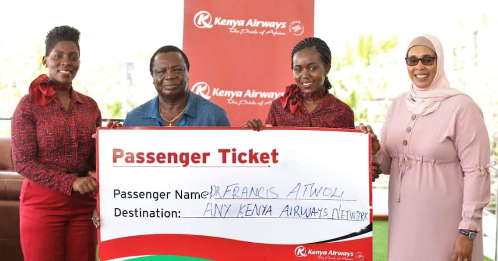 KQ awarded COTU's Francis Atwoli with a life membership.