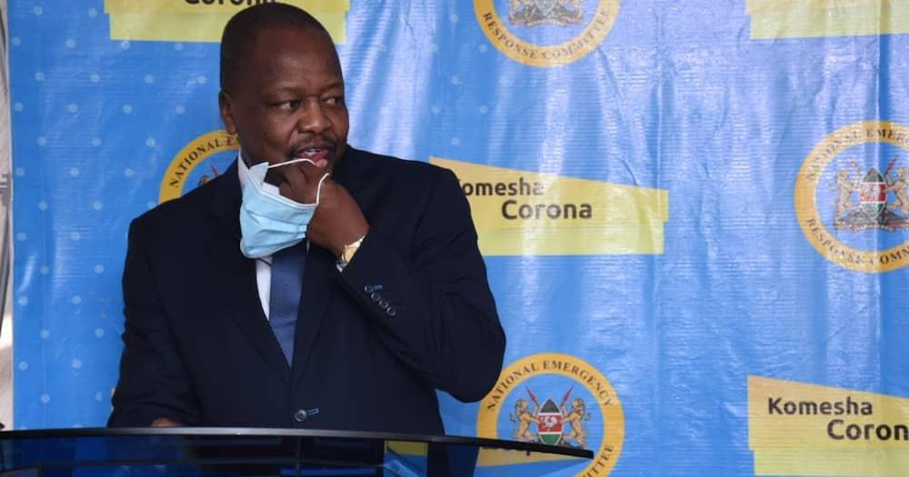 Mutahi Kagwe is the Health Cabinet Secretary.
