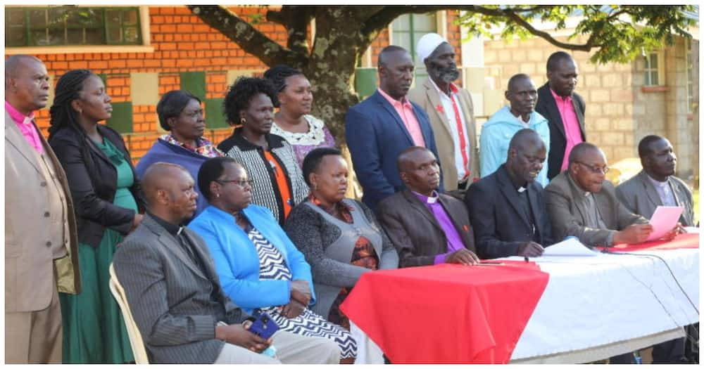 The National Council of Churches of Kenya North Rift clerics during a meeting in Eldoret. Photo: The Standard