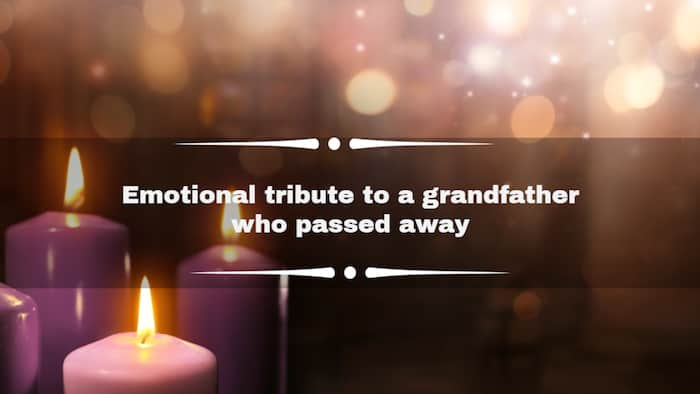 50+ best emotional tribute to a grandfather who passed away