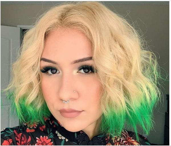 bold green hair