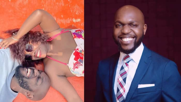 Kenyans Excited after Larry Madowo Cosily Poses with Female Friend During Swimming Date