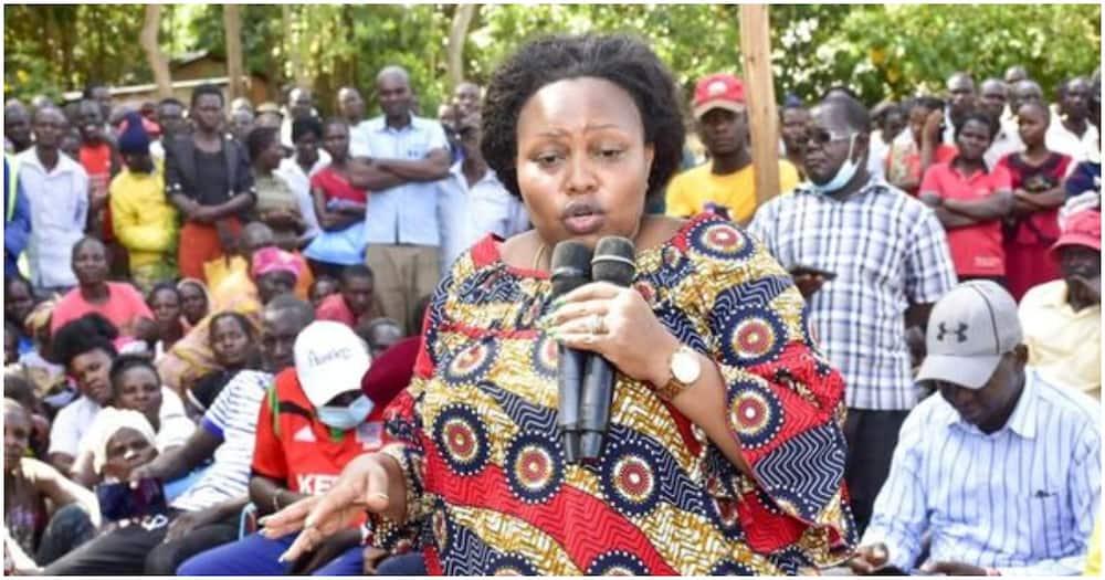 Nominated Senator Millicent Omanga in Kabuchai. Photo: Millicent Omanga.
