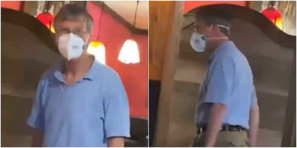 Bill Gates disguising? Reactions as man on face mask has people wondering if he's the Microsoft founder