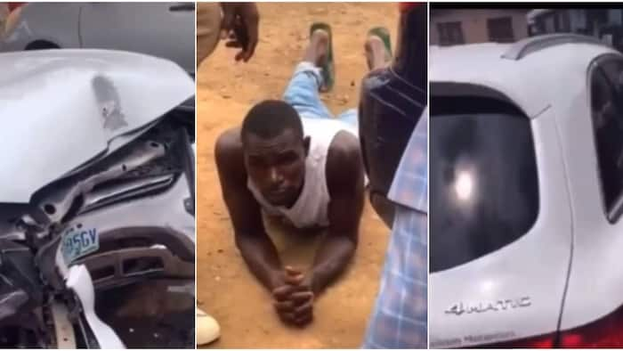 Car Wash Guy Drives Client's Benz to Buy Ugali and 'Mrenda', Crashes It Beyond Repair