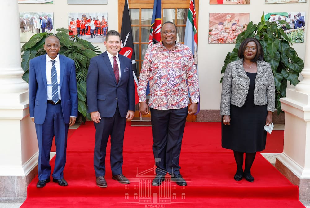 Uhuru bids farewell to outgoing US ambassador Kyle McCarter, assures conclusion of free trade area deal