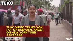 TUKO.co.ke video team's vox pop capturing Kenyans anger against New York Times coverage of DusitD2 attack