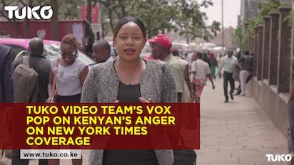 TUKO.co.ke video team's vox pop capturing Kenyans anger against New York Times coverage of DusitD2 attack