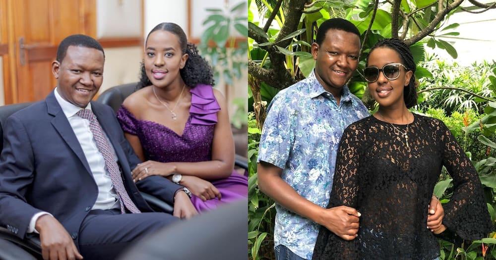 Alfred Mutua and his wife Lilian Nganga.
