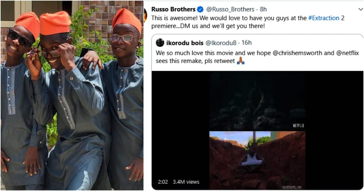 Nigerian boys invited to Hollywood after recreating Extraction movie