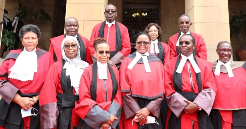 Chief Justice Martha Koome and Court of Appeal judges.