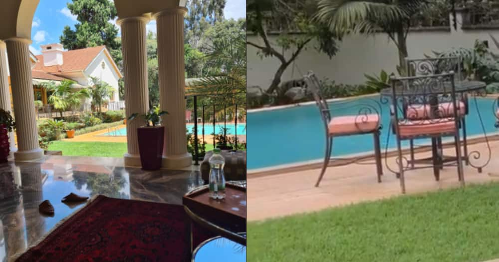 Wealthy lawyer Grand Mulla proudly shows off his sky blue pool, manicured lawn at home