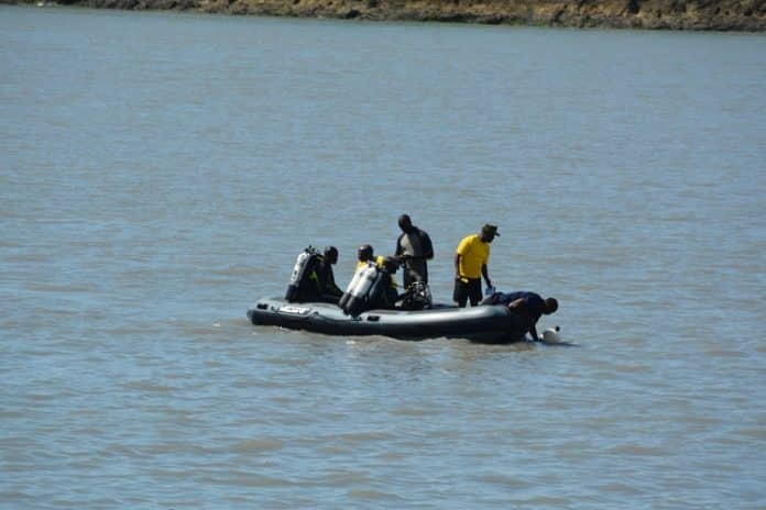 Image result for Divers at Likoni channel
