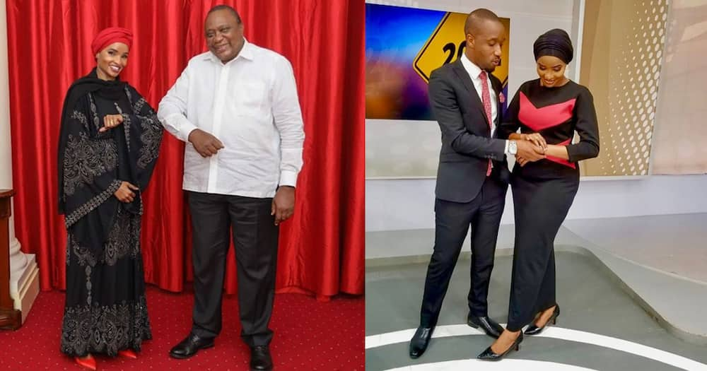 Standing Next to Power: Rashid Abdalla Proud of Lulu Hassan as She Poses with Uhuru Kenyatta