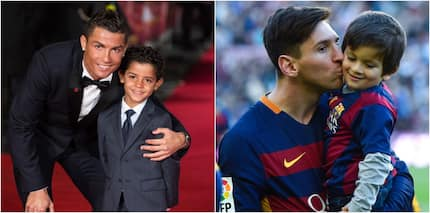 Foretelling video emerges proving Cristiano Ronaldo's son could become a better footballer than Messi's