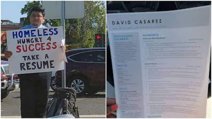 Man Goes to the Street with Placard and Printed CVs in Search of Job, Gets Over 200 Offers